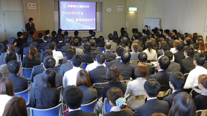 ファインテックジャパン開催後には、その成功の秘訣を社内で共有した。